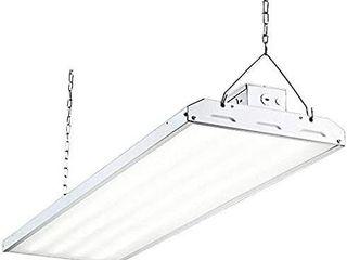lED High Bay Shop light  4FT 223W 135lM W linear lED Industrial Workshop light  Warehouse Aisle Area light 30105lm  5000K  4 lamp Fluorescent Equivalent  1 10V Dim  Ul Complied