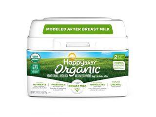 Happy Baby Organics Organic Stage 2 Milk Based Powder with Iron Infant Formula 21 oz  Tub