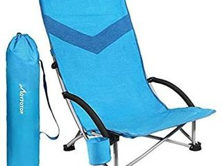MOVTOTOP Folding Camping Beach Chair  2020 Newest Portable Outdoor Backpack Camping Chair  High Back Rest Patio Chairs with Carry Bag Heavy Duty 300 lbs