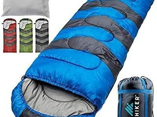 HiHiker Camping Sleeping Bag   Travel Pillow w Compact Compression Sack a 4 Season Sleeping Bag for Adults   Kids a lightweight Warm and Washable  for Hiking Traveling