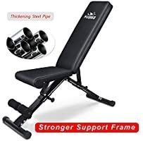 FlYBIRD Weight Bench  Adjustable Strength Training Bench for Full Body Workout with Fast Folding  2020 Version