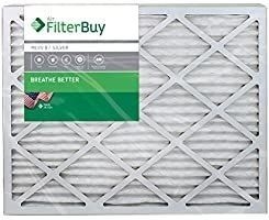 FilterBuy 20x23x1 MERV 8 Pleated AC Furnace Air Filter   Pack of 4 Filters  20x23x1 a Silver