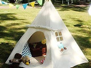 lAVIEVERT Children Playhouse Huge Indian Canvas Teepee Kids Play House