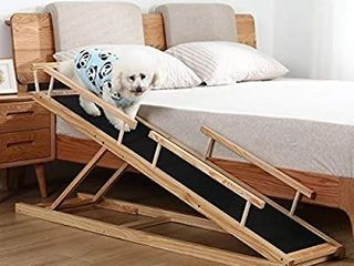 MDBT Dog Bed Ramps for Small Dogs  Wood Pet Ramp for High Beds  59 in  long
