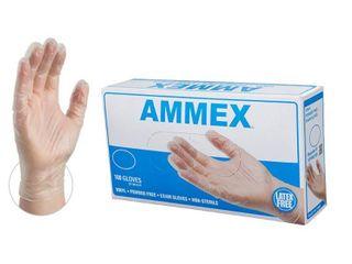 Ammex VPF Vinyl Glove  Medical Exam  latex Free  Disposable  Powder Free  large  Box of 100