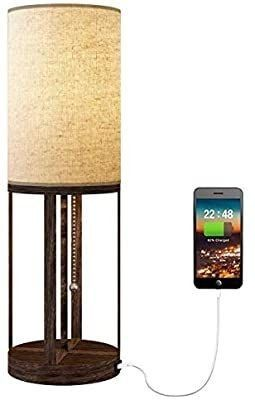 Oneach Modern USB Table lamp for living Room Night Bedside Desk lamps Set of 2