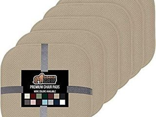 Gorilla Grip Original Premium Memory Foam Chair Cushions  6 Pack  16x16 Inch