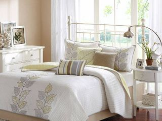 Yellow Marissa Quilted Coverlet Set King 6pc