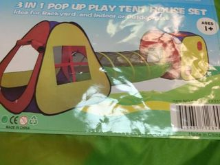 Utex 3 In 1 Pop Up Play Tent With Tunnel  Ball Pit For Kids  Boys  Girls