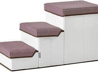 Roomnhome pet Storage Stepper  Foldable Multi Tier pet Stairs with Size of 20 x11 x12 5 2T    27 5 x12 x15 3T  can Hold up to 20lbs Small Medium Size Dogs