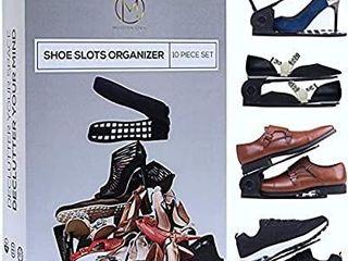 Modern livin Shoe Slots Organizer 10 Piece Set Black