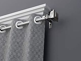 Coquilles Single Window Curtain Rod with Square Finails
