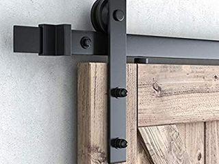 SMARTSTANDARD 8ft Heavy Duty Sturdy Sliding Barn Door Hardware Kit