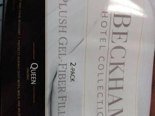 Beckham Hotel Collection Gel Pillow  2 pack    luxury Plush Gel Pillow   Dust