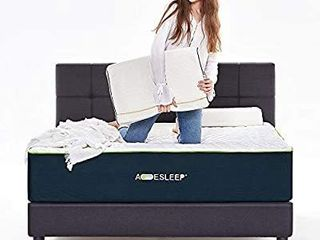 Acesleep 12 Inch Cool Gel Memory Foam Mattress King Size   Bamboo Charcoal Foam  Medium Soft  Adjustable Bed Frame Compatible