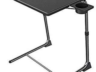 Adjustable TV Tray Table   TV Dinner Tray on Bed   Sofa  Comfortable Folding Table with 6 Height   3 Tilt Angle Adjustments by HUANUO