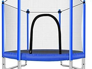Fashionsport OUTFITTERS Trampoline with Safety Enclosure  Indoor or Outdoor Trampoline for Kids Blue 5FT