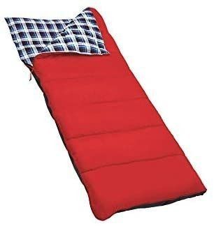 Outbound Sleeping Bag   Compact and lightweight Sleeping Bag for Adults   3 Season  Warm and Cold Weather   Perfect for Backpacking  Camping and Hiking   Red