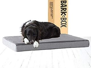 Barkbox Memory Foam Platform Dog Bed   3  High Density Foam Mattress for Orthopedic Joint Relief   Machine Washable Cuddler with Removable Cover and Water Resistant lining   Includes Squeaker Toy