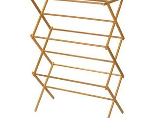 Bamboo Wooden Clothes Drying Rack  14 1 2 x 29 1 2 x 41 3 4   Inch