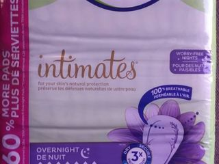 Intimates Overnight Absorbency Incontinence bladder Control Pad With lie Down