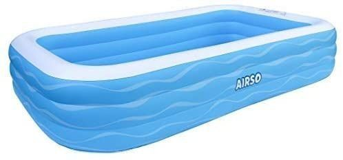 Inflatable Swimming Pool Family Full Sized Inflatable Pools 118  x 72  x 22  Thickened Family lounge Pool for Toddlers  Kids   Adults Oversized Kiddie Pool Outdoor Blow Up Pool for Backyard  Garden