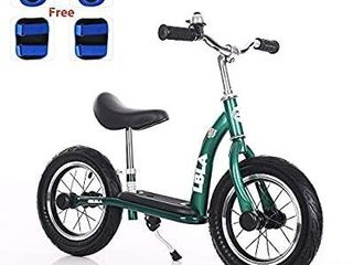 Kids Balance Bike  No Pedal Toddler Bike with Carbon Steel Frame Adjustable Handlebar and Seat 12inch Toddler Walking Bicycle for Kids 2 to 6 Years Old