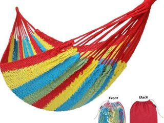 10FT X10FT Family Hammock Portable Mayan Hammock With Carry Bag Matrimonial Size Multi Color Handmade Yucatan Hammock For Travel Camping Backyard  Porch  Outdoor Or Indoor Use i1 4