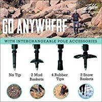 TrailBuddy Trekking Poles   2 pc Pack Adjustable Hiking or Walking Sticks   Strong  lightweight Aluminum 7075   Quick Adjust Flip lock   Cork Grip  Padded Strap
