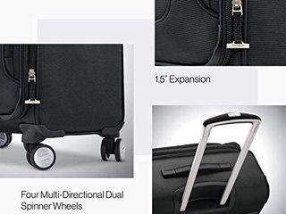 Samsonite Solyte DlX Softside Expandable luggage with Spinner Wheels  Midnight Black  Carry On 20 Inch i1 4