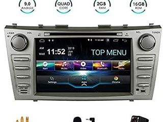 SWTNVIN Camry Car Stereo for 2007 2008 2009 2010 2011 Android 10 0 Double Din in Dash 8 Inch Touch Screen Multimedia Receiver with Bluetooth GPS Navigation Radio Audio DVD Player TPMS Steering Wheel