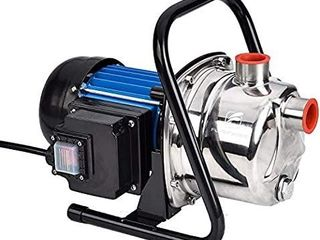 FlUENTPOWER 1 HP Portable Stainless Steel lawn Sprinkling Pump  Electric Water Pump Shallow Well Sump Booster Pump with 1  NPT Female Thread for Home Garden lawn Irrigation