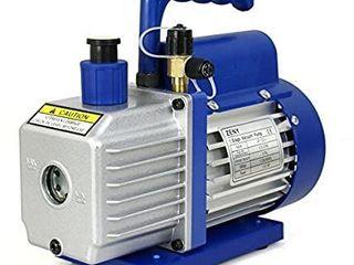 3 5CFM Single Stage 5 Pa Rotary Vane Economy Vacuum Pump 3 CFM 1 4HP Air Conditioner Refrigerant HVAC Air Tool R410a 1 4  Flare Inlet Port  Blue