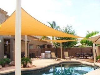 Big 20 x20 x20  Oversized Triangle Garden Patio Sun Sail Shade 20 ft  Color Desert Sand