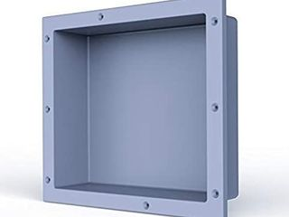 Sl4U Shower Niche  Single Recessed Shower Shelf Built in Storge Shelf for Shampoo Toiletry Ready for Tile  Gray  16  W x 14  H    SD 1614
