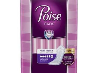 Poise Incontinence Pads for Women  Ultimate Absorbency  long  90 Ct