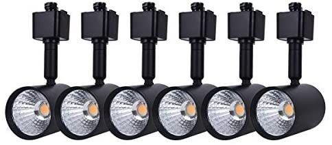 mirrea 6 Pack lED Track lighting Heads Compatible with Single Circuit H Type Track lighting Rail Ceiling Spotlight for Accent Task Wall Art Exhibition lighting 6 5W 3000K Warm White 24A Black Painted