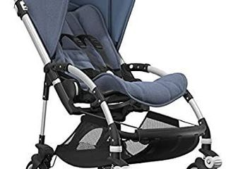 Bugaboo Bee5 Complete Stroller  Alu Blue MAclange   Compact  Foldable Stroller for Travel and Urban life  Easy to Steer on City Streets   Tight Turns  The Most Popular lightweight Stroller