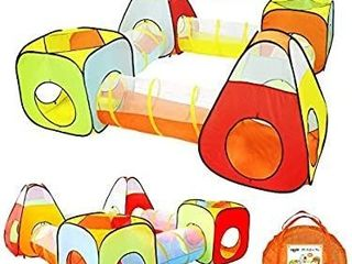 Yoobe 8pc Children Play Tent and Tunnel  Indoor   Outdoor Child Pop up Tent with Tunnels Playhouse