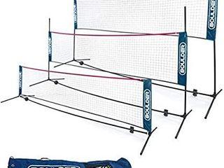 Boulder Portable Badminton Net Set   for Tennis  Soccer Tennis  Pickleball  Kids Volleyball   Easy Setup Nylon Sports Net with Poles