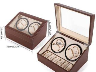 SHZICMY Automatic Watch Winder Display Box  4 6 leather Rotating Display Box luxury Storage Case