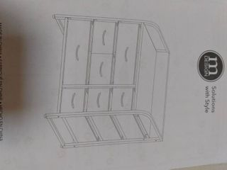 Mdesign Wide Dresser Storage Chest  Sturdy Steel Frame  Charcoal graphite