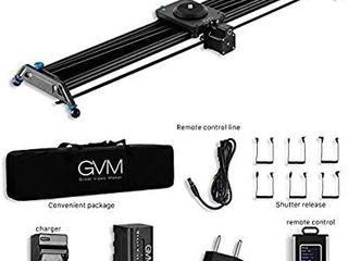 GVM Great Video Maker GT J80D Motorized Camera Slider Aluminum Alloy Slider Time lapse Video Shot Camera Dolly Slider with Controller for DSlR Camera DV Video Camcorder Film Photography