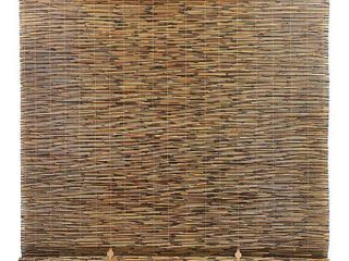 Radiance 4  x 6  Cord Free Peeled and Polished Reed Roll Up Outdoor Sun Shade  Cocoa