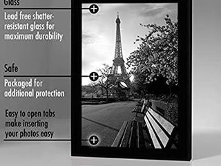 Americanflat 8x12 Picture Frame in Black   Composite Wood with Shatter Resistant Glass   Horizontal and Vertical Formats for Wall and Tabletop