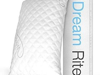 WonderSleep Dream Rite Shredded Hypoallergenic Memory Foam Pillow Series luxury Adjustable loft Home Pillow Hotel Collection Grade Washable Removable Cooling Bamboo Derived Rayon Cover  Queen 1 Pack