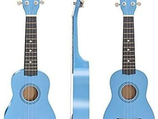 Soprano Ukulele Beginner Pack  21 Inch Basswood kids Ukuleles Starter Kit with Gig Bag Digital Tuner Spare Strings and Picks   blue