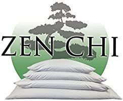 ZEN CHI Buckwheat Pillow  Organic King Size  20 X36  w Natural Cooling Technology  All Cotton Cover w Organic Buckwheat Hulls