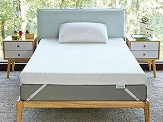 Novilla 2 Inch Gel Memory Foam Mattress Topper for Cooling Sleep   Pressure Relieving  Soft Mattress Topper Full Size with Removable   Washable Bamboo Cover Full Size  Yozora