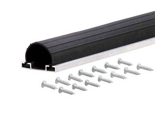 M D Products 87643 9  Black Universal Aluminum and Rubber Garage Door Bottom